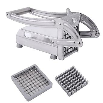 Stainless Steel Manual French Fries Slicer, Potato Chipper Chip Cutter,