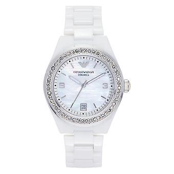Armani Ar1426 Ladies White Ceramic Watch