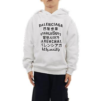 Balenciaga هودي كلاسيك الأبيض 641599TJVM39040 الأعلى