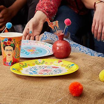 自由奔放に生きる Pom Pom ピック ラマ 12 楽しい食品フラグのセット