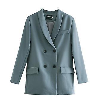 Women's Blazer kétrészes öltöny szett dupla gombolású kabát
