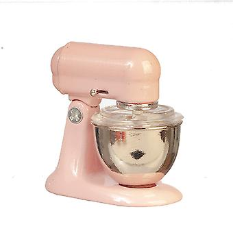 Dolls House Ruokasekoitin Vaaleanpunainen Moderni Miniatyyri Keittiö Lisävaruste 1:12 Asteikko