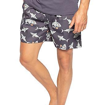 Cyberjammies Thomas 6554 Homme & s Grey Shark Cotton Pyjama Short