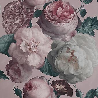 Highgrove Floral Tapet Pink Arthouse 909303
