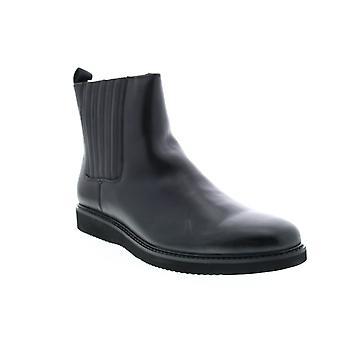 Zanzara Warlow  Mens Black Leather Chelsea Boots