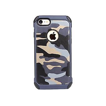 Apple iPhone 8 Iskunkestävä kotelon kansi - Sininen naamiointi