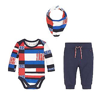 Tommy hilfiger bébé garçons nouveau-né bleu marine ensemble cadeau kn0kn01182