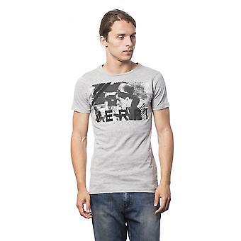 Verri Grigio Ml Grey Ml Printed Round Neck T-shirt