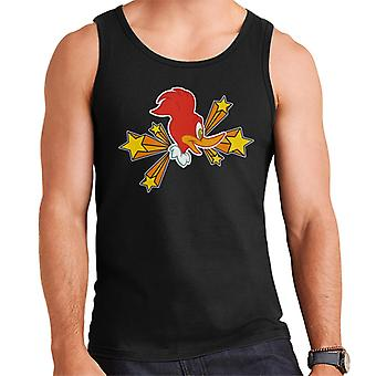 Woody Woodpecker Character Head With Stars Men's Vest