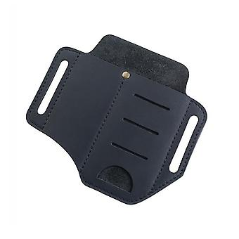Outdoor Tactical Waist Bag, Mini Flashlight Leather Tool Set