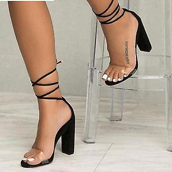 Kvinder Sommer T-scene Fashion Dancing High Heel Stiletto Party Bryllup Sko