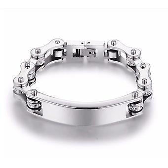 Men, Women, Bracelets,  Biker Motorcycle Chain Bracelet, Stainless Steel