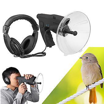 parabolsk mikrofon monokulær x8 bionic øre langdistanse fugler lytte teleskop 200m