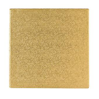 "10"" (254mm) Cake Board Square Gold Fern - single"