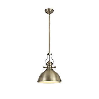 Lámpara Colgante Arianna 1 Bombilla Latón Antiguo 30 Cm