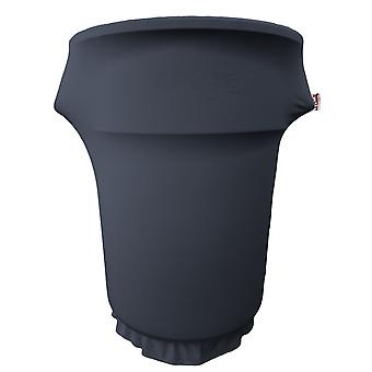La Linen Spandex Cover Fitted For 55 Gallon Trash Can On Wheels, Navy