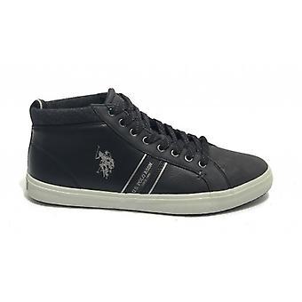 Sneaker Alto Us Polo Mod. Varan Ecopelle Black Color Man U20up12
