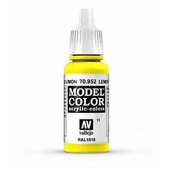Vallejo Model Color 17ml Acrylic Paint - 952 Lemon Yellow