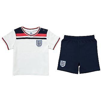 Engeland Voetbal 1982 Retro Baby T-shirt & Shorts Set   2021