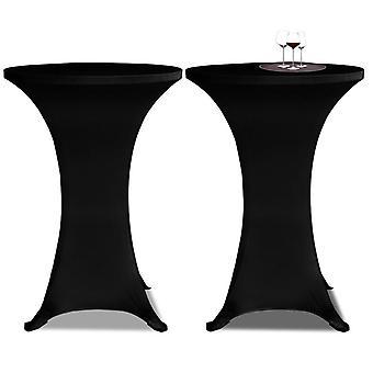 2 x Pöytähuussi seisovalle pöydälle Stretchhusse x 60 cm musta