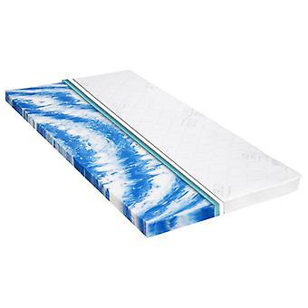 vidaXL mattress topper 140 x 200 cm gel foam 7 cm