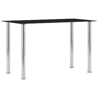Mesa de comedor Negro 120x60x75 Cm Vidrio Templado