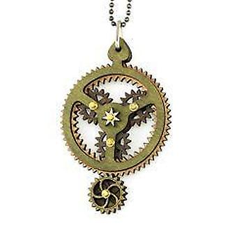 Kinetic Planetary Gear Necklace 6003c