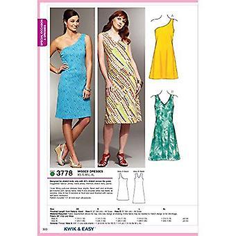 Kwik Sew Sewing Pattern 3778 Misses Sleeveless Dresses Size XS-XL