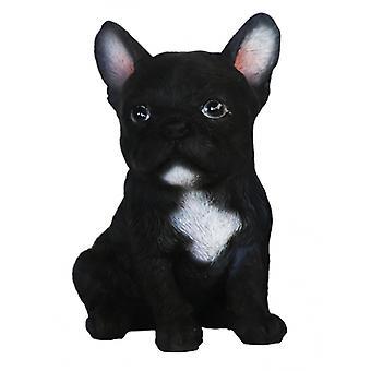 bulldog 7.9 x 7.4 cm Polyresin black/white