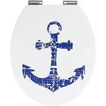 WC zitanker 37,5 x 44 cm MDF blauw/wit