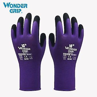 Wonder Grip Gardening Safety Glove Nylon With Nitrile Coated Work Glove Abrasion-proof Universal Working Gloves