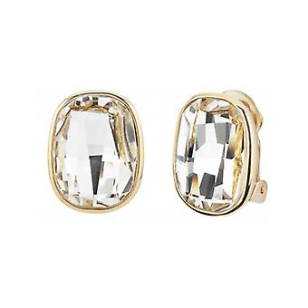 Traveller - Clip Earring - Swarovski Crystals  - 22ct Gold Plated - 157448 - 947
