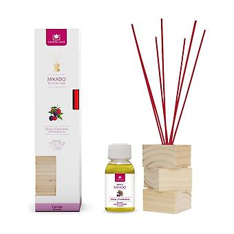 Complete kit natural wood blackberries and raspberries canes + essence + wood base 2 units