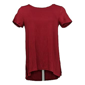 Cuddl Duds Femme's Top Softwear Stretch Short Sleeve Shirt Rouge A368063