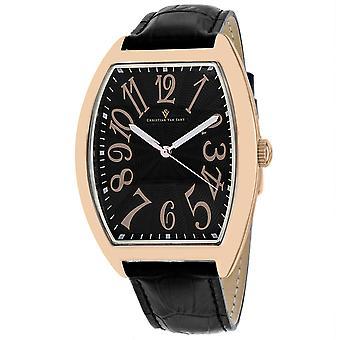 Christian Van Sant Men's Royalty II Black Dial Watch - CV0374