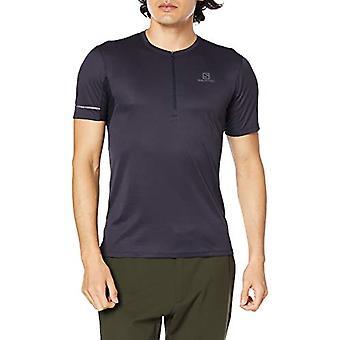 Salomon AGILE HZ SS TEE M Kurzarm-T-Shirt Polyester, Herren, Blau/Grau (Night Sky/Ebony), L