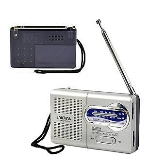 Rádio portátil Am FM Receptor Telescópico Receptor de Antena Mini Bolso Embutido