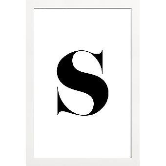 JUNIQE Print -  S - Alphabet & Buchstaben Poster in Schwarz & Weiß