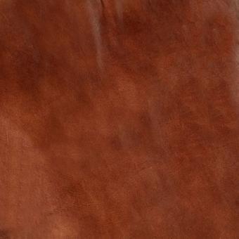 vidaXL Mecedora Marrón Cuero Real y Madera Maciza Mango