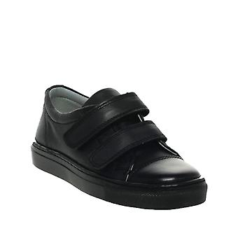 PETASIL Pose F Fit Double Velcro Leather Trainer Styled Shoe
