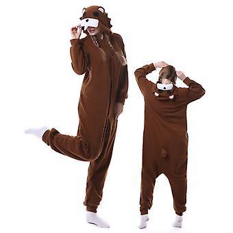 Regenboghorn Braunbär Kostüm Pyjama Onesie Kigurumi Jumpsuit Tier Hoodie