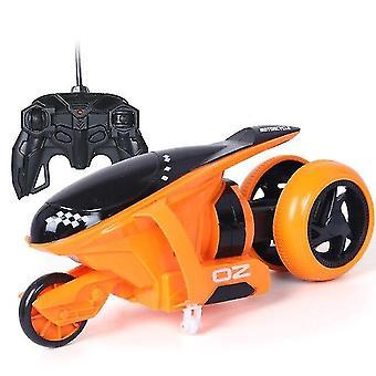 للتحكم عن بعد سيارات الرعد الانجراف دراجة نارية ترتد حيلة لعب هدية للأطفال عيد الميلاد (البرتقالي) WS15784