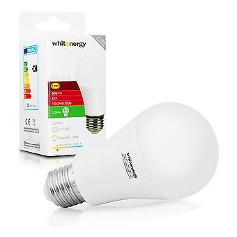 Whitenergy LED Bulb | 10X Smd 2835 LED | A60 | E27 | 10W| 230V | White Warm