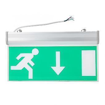 Señal de iluminación led de salida de emergencia