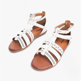 Hush Puppies Nicola Ladies Leather Strappy Sandals White