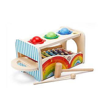 Wielofunkcyjne edukacyjne zabawki muzyczne knock ball funt zabawkę z wysuń xylophone mallets dla