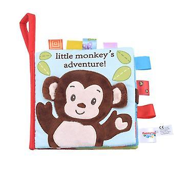 Livres en tissu doux pour bébés en carton