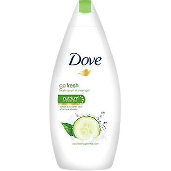 Dove Go Fresh Cool Moisture Fresh Touch Body Wash, Pepino y Té Verde, 16.9 Oz / 500 Ml (Pack de 6)