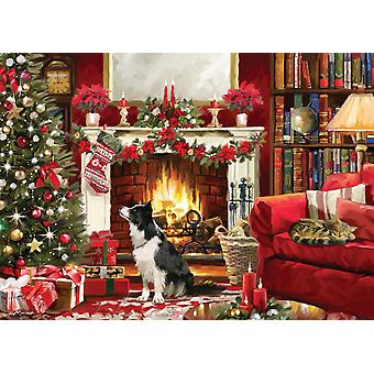 Otter House Festive Fireside  Jigsaw Puzzle (1000 Pieces)