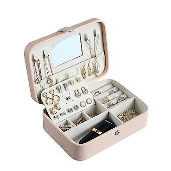 مجوهرات تخزين مربع المحمولة بو الأقراط الطازجة سستة حلقة الأقراط حالة أصحاب